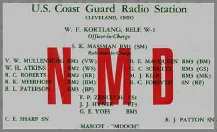 NMD QSL Card listing personnel