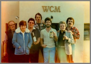 Christmas 1979 photo of WCM employees