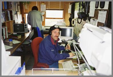 Randy Martens at the WLC controls in 1997